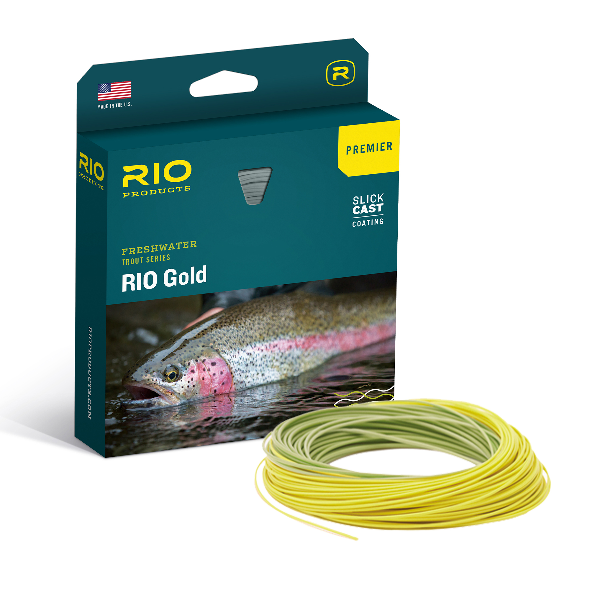 RIO SLICKCAST GOLD PREMIER FLY LINE BOX