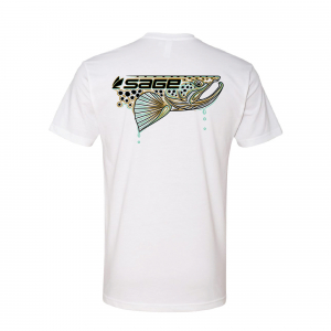 Sage Dripping Fish T-Shirt Trout